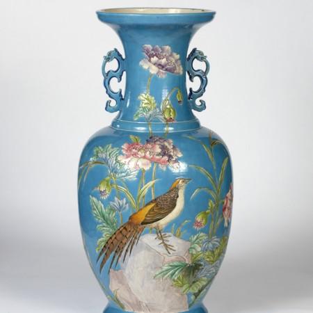 Collinot, Vase bleu faisan