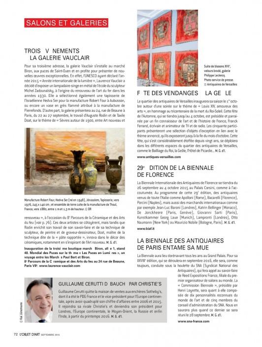 L'Objet d'art - Galerie Vauclair