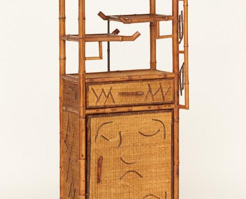 meuble en bambou et rotin