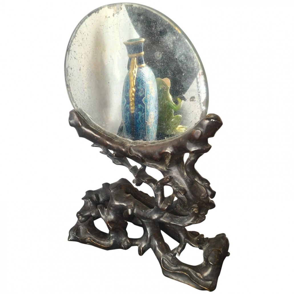 Mirror in Black Wood