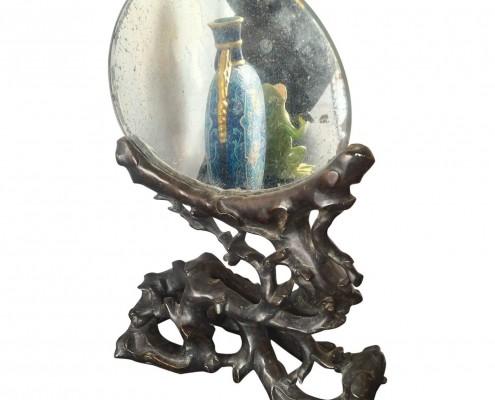 Mirror in Black Wood