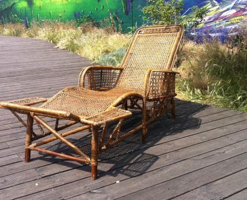 chaise longue en rotin d but xx me si cle galerie vauclair. Black Bedroom Furniture Sets. Home Design Ideas