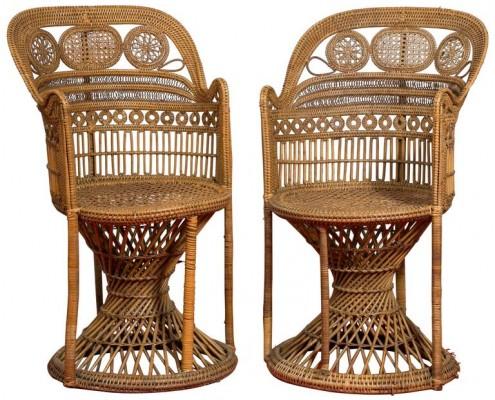 fauteuils en rotin