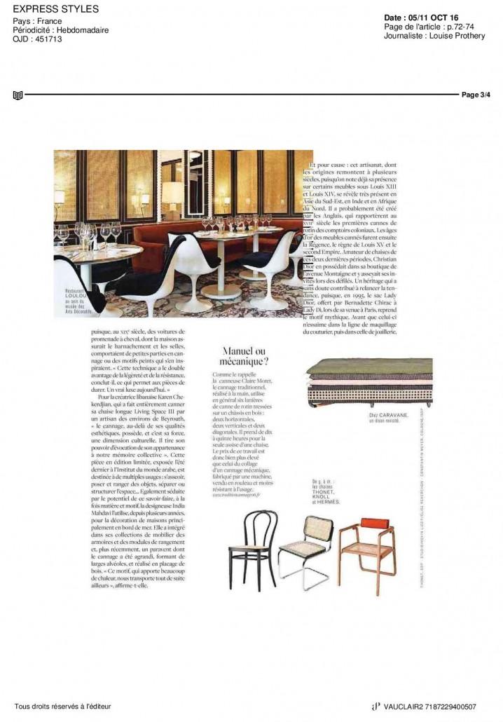 l 39 express styles octobre 2016 galerie vauclair. Black Bedroom Furniture Sets. Home Design Ideas