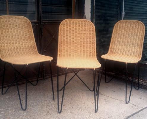 chaises rotin moderne