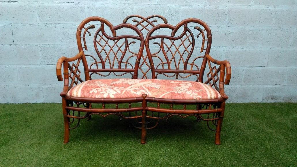 Bamboo set perret vibert manufactory galerie vauclair for Banquette bambou