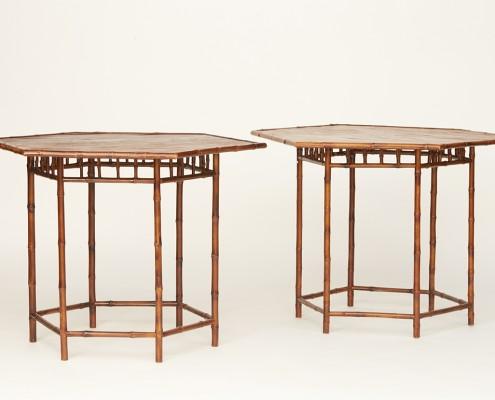 paire de tables en bambou