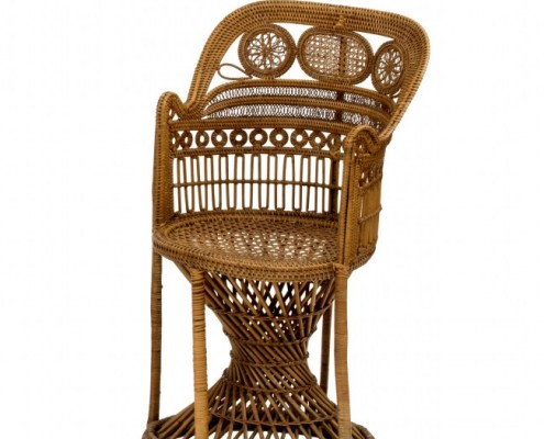little rattan armchair