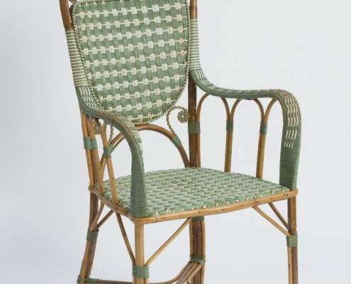 Green Rattan Armchair