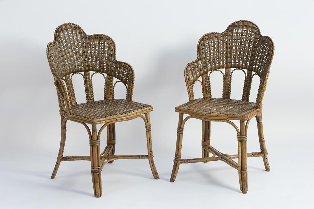 paire de chaises en rotin