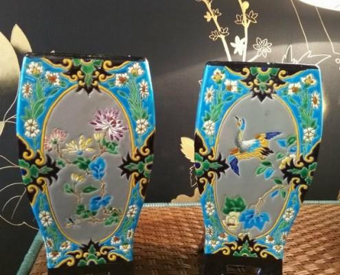 Paire de vases quadrangulaires