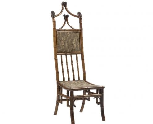 Grande chaise bambou tapisserie