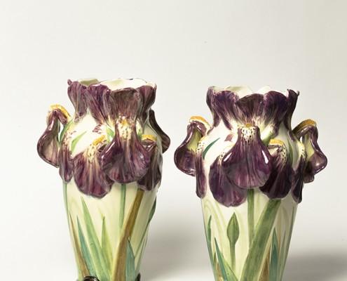 paire de vases aux iris