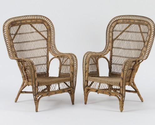 grands fauteuils en rotin