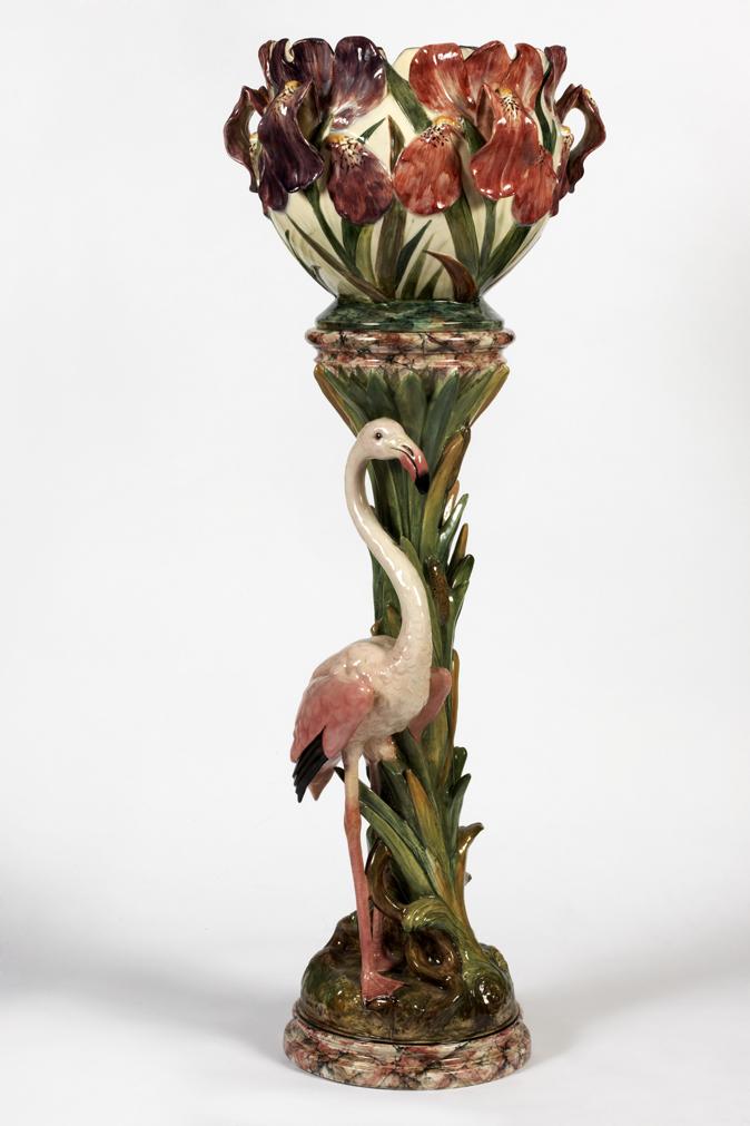 colonne au flamant rose