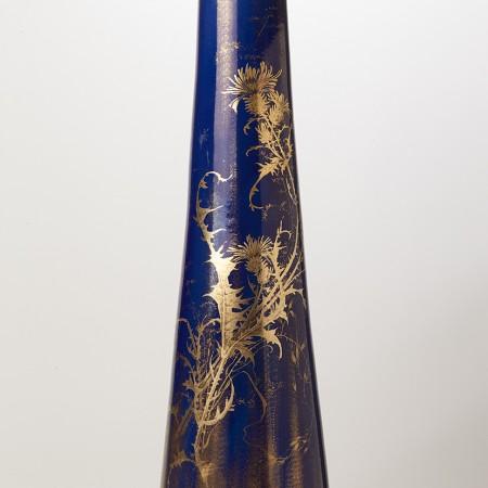 Grand Vase Bleu Irisé