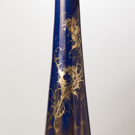 grand vase bleu irisé