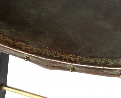tabouret en cuir