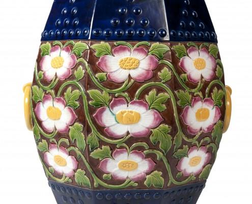 tabouret à fleurs