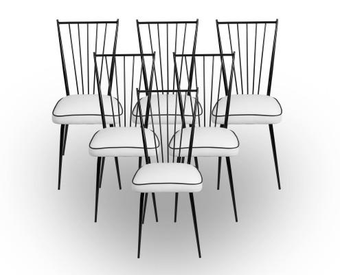 Six chaises, Colette Gueden