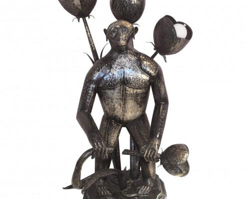 large monkey lamp