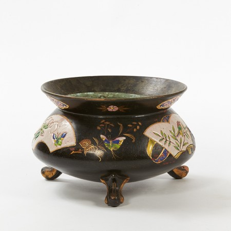 cache-pot à décor japonisant