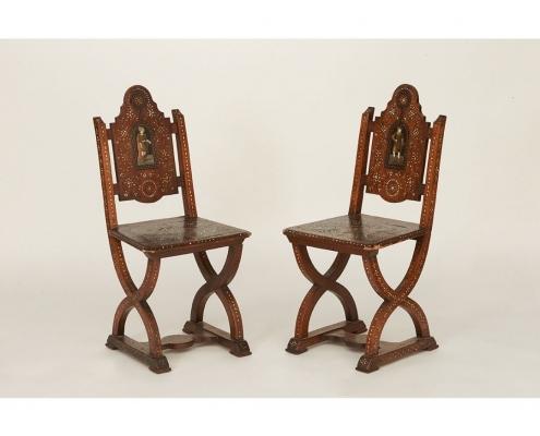 Paire chaises pogliano
